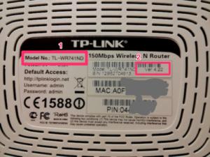 Router Unterseite